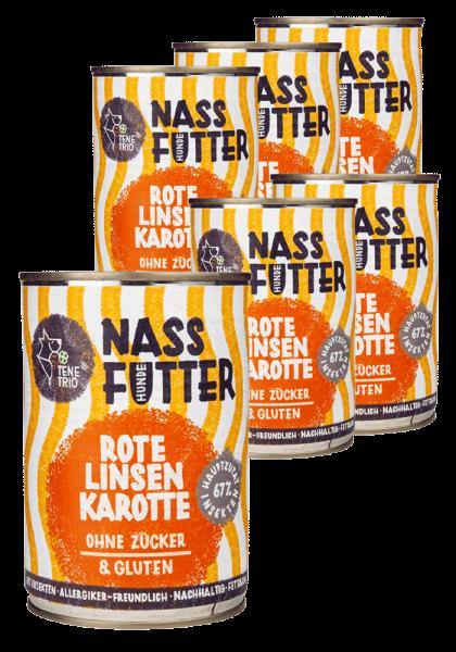NASSFUTTER Insekten, Rote Linse & Karotte
