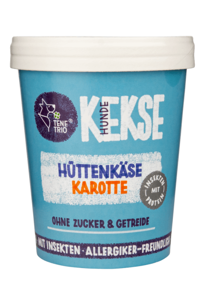 HUNDEKEKSE Hüttenkäse Karotte