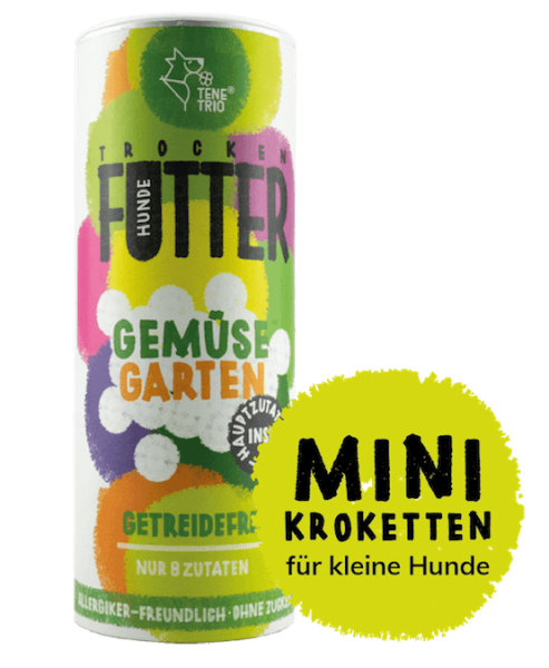 GEMÜSEGARTEN Futter mit Mini-Kroketten, 650g